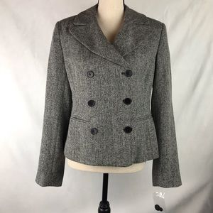 Spiegel Double Breasted Blazer Black & White Tweed